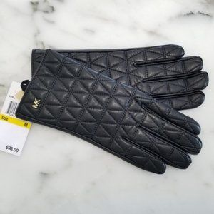 NWT - Michael Kors Quilted Leather Gloves Sz Med